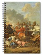 Two Battle Scenes Between Christians And Saracens Spiral Notebook