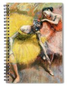 Two Dancers In Yellow And Pink Spiral Notebook
