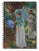 Two Girls With Parasols Spiral Notebook