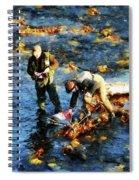Two Men Fishing Spiral Notebook