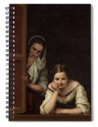 Two Women At A Window Spiral Notebook