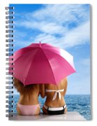 Two Women Relaxing On A Shore Spiral Notebook
