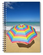Umbrella On Beach Spiral Notebook