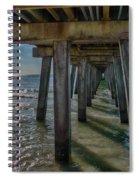 Under The Naples Pier Spiral Notebook