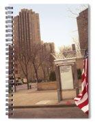 Urban Flag Man Spiral Notebook