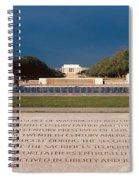 U.s. World War II Memorial Spiral Notebook
