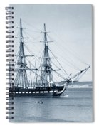 Uss Constitution Old Ironsides In Monterey Bay Oct. 1933 Spiral Notebook