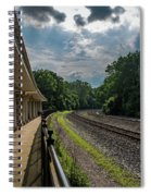Valley Forge Train Station  Spiral Notebook