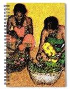 Vegetable Sellers Spiral Notebook