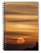 Veiled Sunrise Spiral Notebook