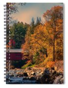 Vermont Covered Bridge Over The Dog River Spiral Notebook