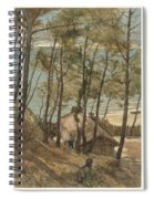 View From A Hill On A House On The Gulf Of Arcachon, August Allebe 1876 Spiral Notebook