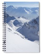 View From Summit Of Valluga, St Saint Anton Am Arlberg Austria Spiral Notebook