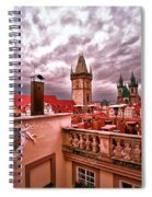 View From The Top In Prague Spiral Notebook