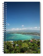 View Of Boracay Island Tropical Coastline In Philippines Spiral Notebook