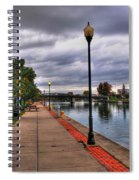 View Of Delaware Bridge At Erie Canal Harbor Spiral Notebook