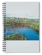 View Of The Lake Nikolai Petrovich Bogdanov-belsky Spiral Notebook