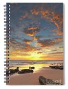 Gale Beach At Sunset. In Algarve Spiral Notebook