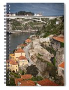 Vila Nova De Gaia And Porto In Portugal Spiral Notebook