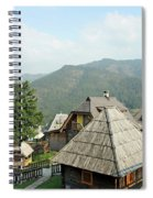 Village On Mountain Rural Landscape Spiral Notebook
