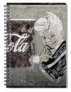 Vintage 1916 Hand Painted Coca Cola Sign Spiral Notebook