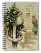 Vintage Christmas Card Spiral Notebook