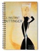 Vintage French Champagne Spiral Notebook