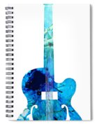 Vintage Guitar 2 - Colorful Abstract Musical Instrument Spiral Notebook