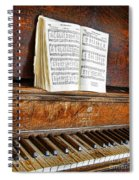 Vintage Piano Spiral Notebook