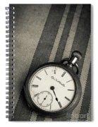 Vintage Pocket Watch Spiral Notebook