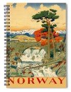 Vintage Poster - Norway Spiral Notebook