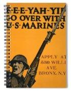 Vintage Recruitment Poster Spiral Notebook