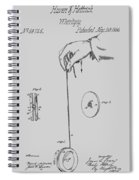 Vintage Yoyo Patent Drawing From 1866 Spiral Notebook
