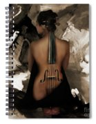 Violin Lady  Spiral Notebook