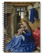 Virgin And Child In An Interior Spiral Notebook