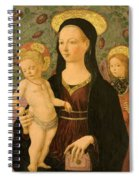 Virgin And Child With An Angel Spiral Notebook