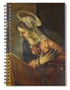 Virgin From The Annunciation To The Virgin Spiral Notebook