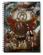 Virgin Of Carmel Saving Souls In Purgatory Spiral Notebook
