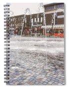 Wakefield City Centre Fountain Spiral Notebook