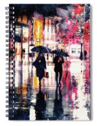 Walking In The Rain Spiral Notebook