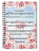 Waltz Of The Flowers Pink Roses Spiral Notebook