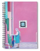 Washing Day, Burano, Venice Spiral Notebook