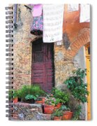 Washing Day Tuscany Spiral Notebook