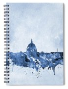 Washington Skyline-blue Spiral Notebook