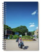 Wat Damnak Roundabout In Central Siem Reap City Cambodia Spiral Notebook