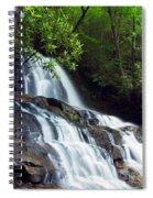 Water Cascading Over Rocky Cliffs Spiral Notebook