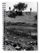 Water Hole Dead Cattle Cowboys  Drought Tohono O'odham Indian Reservation Near Sells Az 1969 Spiral Notebook