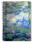 Water Lilies, Nympheas, By Claude Monet,  Musee Marmottan Monet, Spiral Notebook