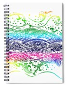Water Pattern Spiral Notebook