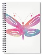 Watercolor Butterfly 2- Art By Linda Woods Spiral Notebook